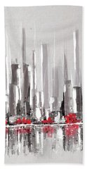 Abstract Cityscape Painting - 1 Hand Towel