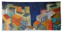 Abstract Cityscape Series Hand Towel