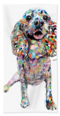 Abstract Cocker Spaniel Hand Towel