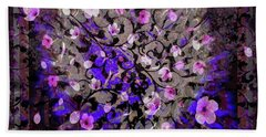 Abstract Cherry Blossom Bath Towel