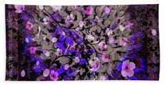 Abstract Cherry Blossom Bath Towel