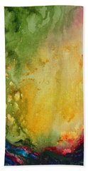 Abstract Color Splash Bath Towel