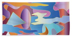Abstract Colorful Sky Tones Dawn Sunset Daylight Evening Hand Towel