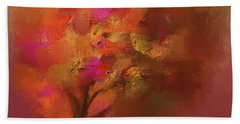 Abstract Colourful Tree Bath Towel