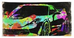 Abstract Corvette Watercolor Vi Bath Towel