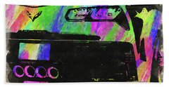 Abstract Corvette Watercolor Vii Bath Towel