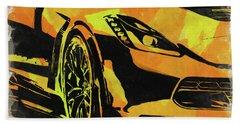 Abstract Corvette Watercolor Xi Bath Towel