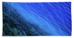 Abstract Crater Lake Blue Water Bath Towel