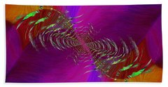 Hand Towel featuring the digital art Abstract Cubed 352 by Tim Allen