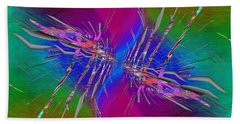Hand Towel featuring the digital art Abstract Cubed 353 by Tim Allen