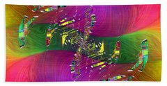 Hand Towel featuring the digital art Abstract Cubed 357 by Tim Allen