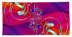 Hand Towel featuring the digital art Abstract Cubed 360 by Tim Allen