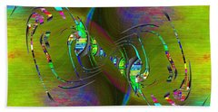 Hand Towel featuring the digital art Abstract Cubed 361 by Tim Allen