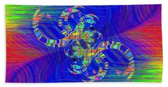 Hand Towel featuring the digital art Abstract Cubed 362 by Tim Allen