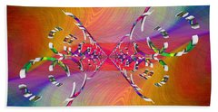 Hand Towel featuring the digital art Abstract Cubed 364 by Tim Allen