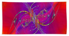 Hand Towel featuring the digital art Abstract Cubed 365 by Tim Allen