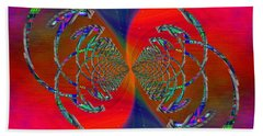 Hand Towel featuring the digital art Abstract Cubed 366 by Tim Allen