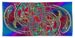 Hand Towel featuring the digital art Abstract Cubed 367 by Tim Allen