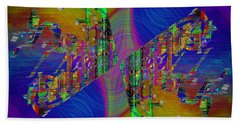 Hand Towel featuring the digital art Abstract Cubed 368 by Tim Allen