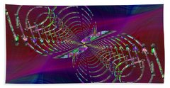 Hand Towel featuring the digital art Abstract Cubed 369 by Tim Allen