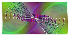 Hand Towel featuring the digital art Abstract Cubed 370 by Tim Allen