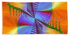 Hand Towel featuring the digital art Abstract Cubed 372 by Tim Allen