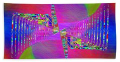 Hand Towel featuring the digital art Abstract Cubed 373 by Tim Allen