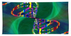 Hand Towel featuring the digital art Abstract Cubed 374 by Tim Allen