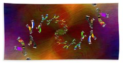 Hand Towel featuring the digital art Abstract Cubed 375 by Tim Allen