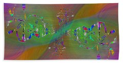 Hand Towel featuring the digital art Abstract Cubed 376 by Tim Allen