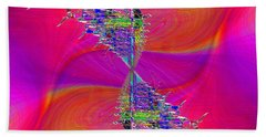Hand Towel featuring the digital art Abstract Cubed 377 by Tim Allen