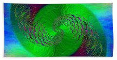 Hand Towel featuring the digital art Abstract Cubed 378 by Tim Allen