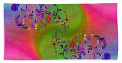 Hand Towel featuring the digital art Abstract Cubed 381 by Tim Allen