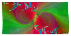 Hand Towel featuring the digital art Abstract Cubed 383 by Tim Allen