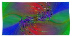 Hand Towel featuring the digital art Abstract Cubed 384 by Tim Allen