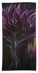 Abstract Dark Rose Bath Towel