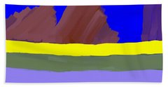 Abstract Digital Mountains Hand Towel