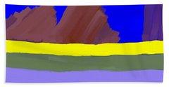 Abstract Digital Mountains Bath Towel