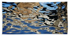 Abstract Dock Reflections I Color Bath Towel