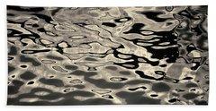 Abstract Dock Reflections I Toned Bath Towel