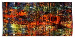 Abstract Evening Bath Towel