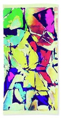 Abstract Explosion Hand Towel by Susan Leggett
