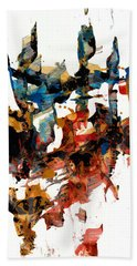 Abstract Expressionism Painting Series 750.102910 Bath Towel
