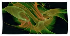 Hand Towel featuring the digital art Abstract Ffz by Deborah Benoit