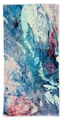 Hand Towel featuring the painting Abstract Floral 33 by Carolyn Repka