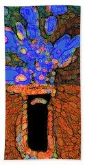 Abstract Floral Art 77 Bath Towel