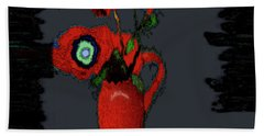 Abstract Floral Art 91 Hand Towel