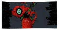 Abstract Floral Art 91 Bath Towel