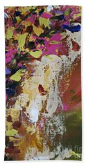 Abstract Floral Study Bath Towel