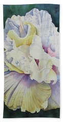 Hand Towel featuring the painting Abstract Floral by Teresa Beyer